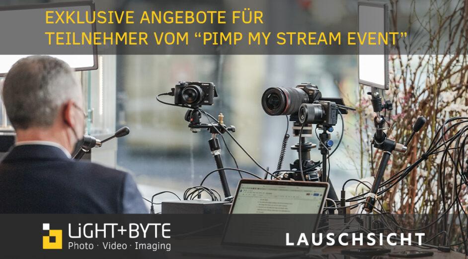 Exklusive Angebote für Teilnehmer vom Pimp my Stream Event