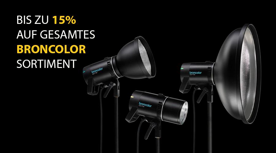 Sichere dir bis zu 15% Rabatt bei deinem nächsten Broncolor Einkauf!